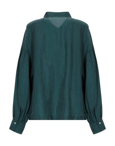 Фото 2 - Pубашка изумрудно-зеленого цвета