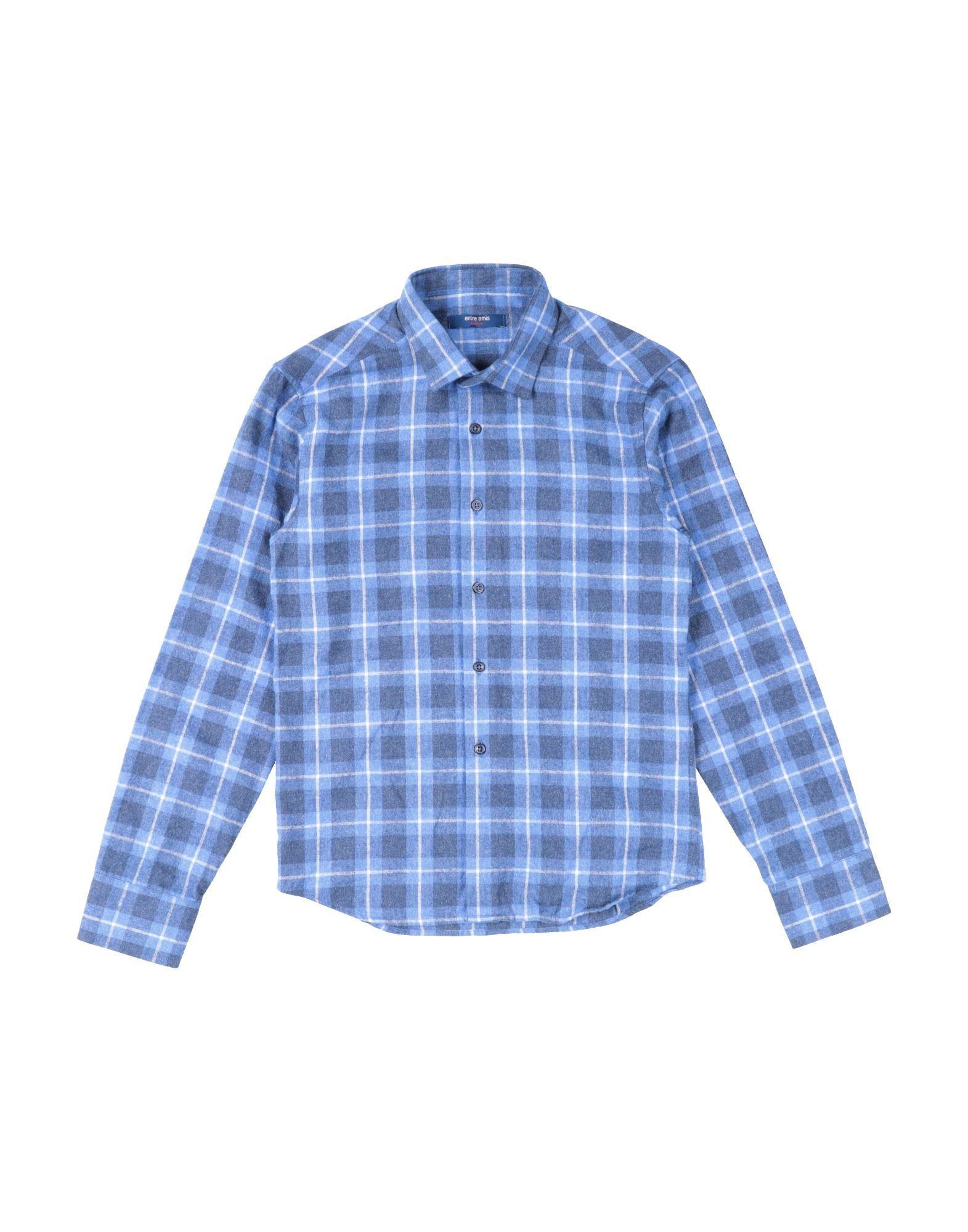 Entre Amis Garçon Kids' Shirts In Blue