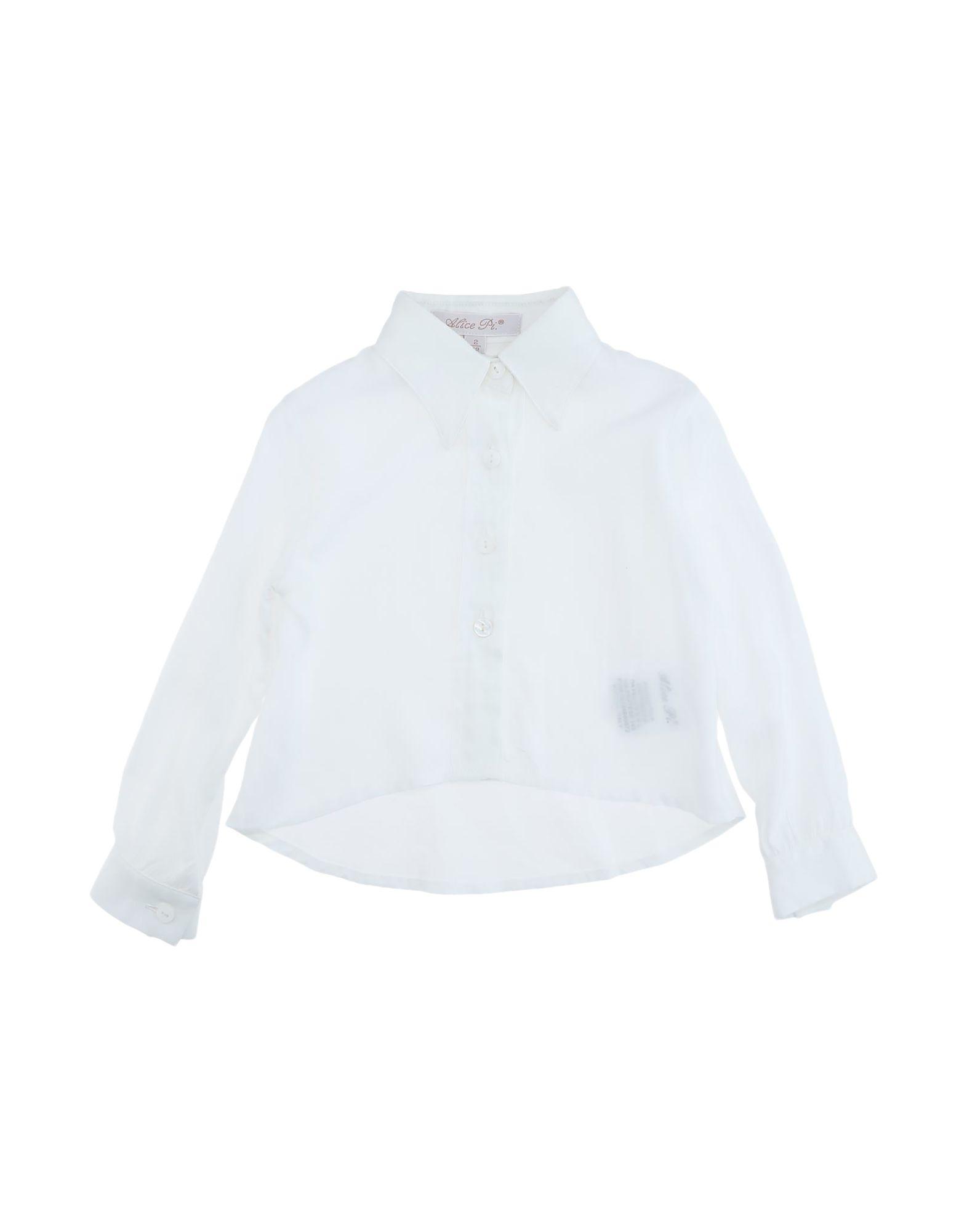 Alice Pi. Kids' Shirts In White