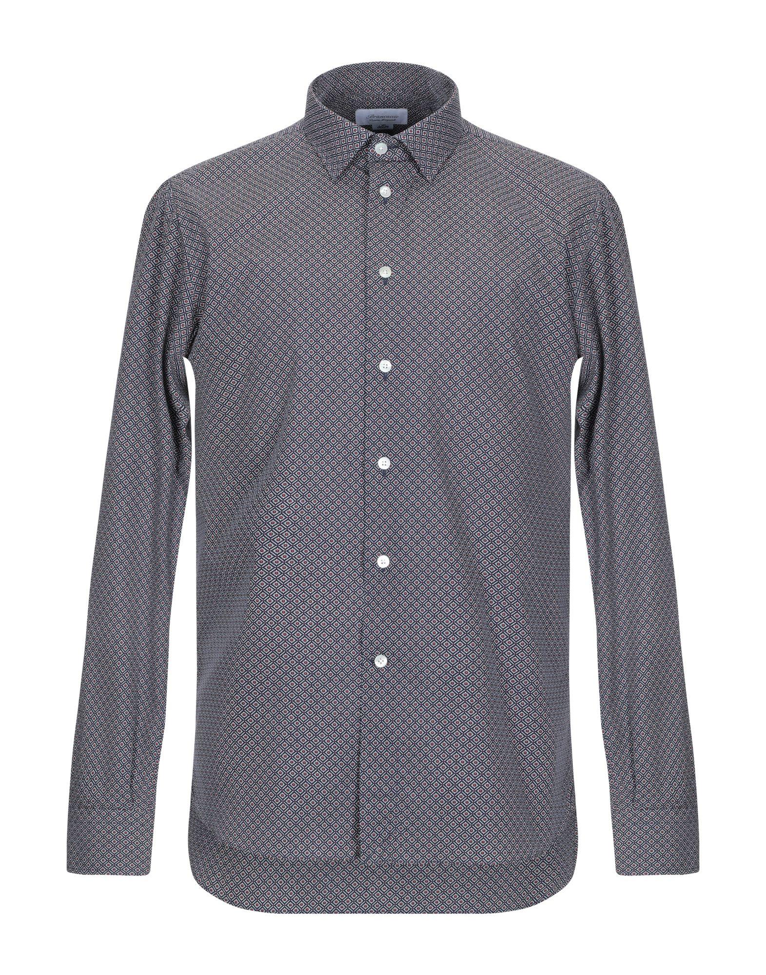《期間限定セール中》BRANCACCIO C. メンズ シャツ ダークブルー M コットン 100%