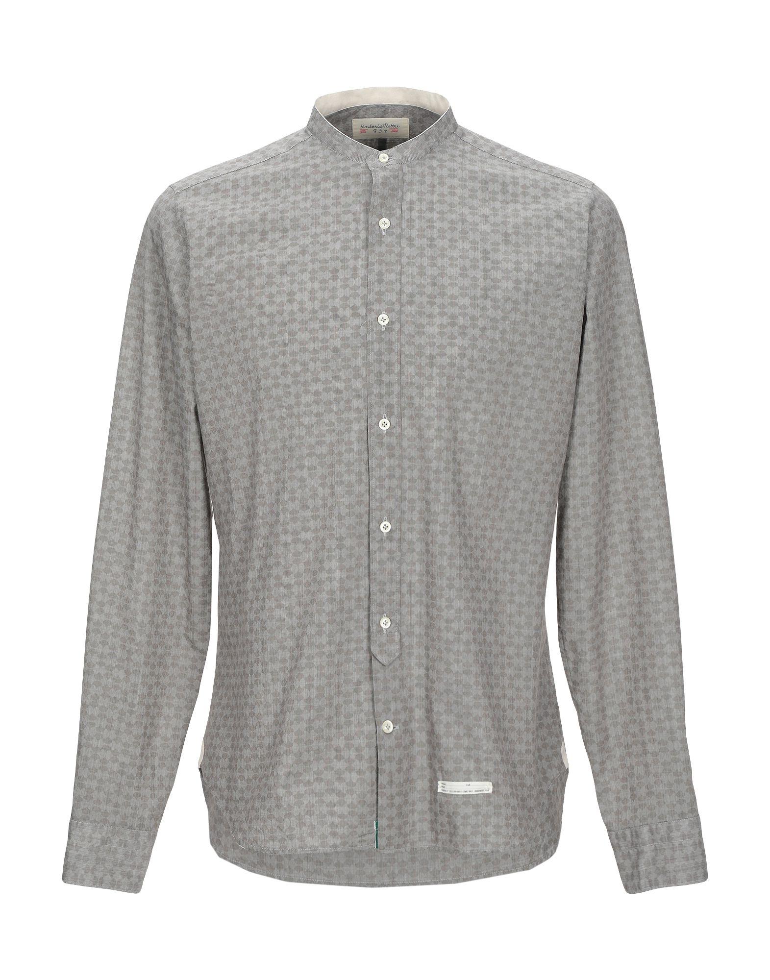 《セール開催中》TINTORIA MATTEI 954 メンズ シャツ グレー 38 コットン 100%