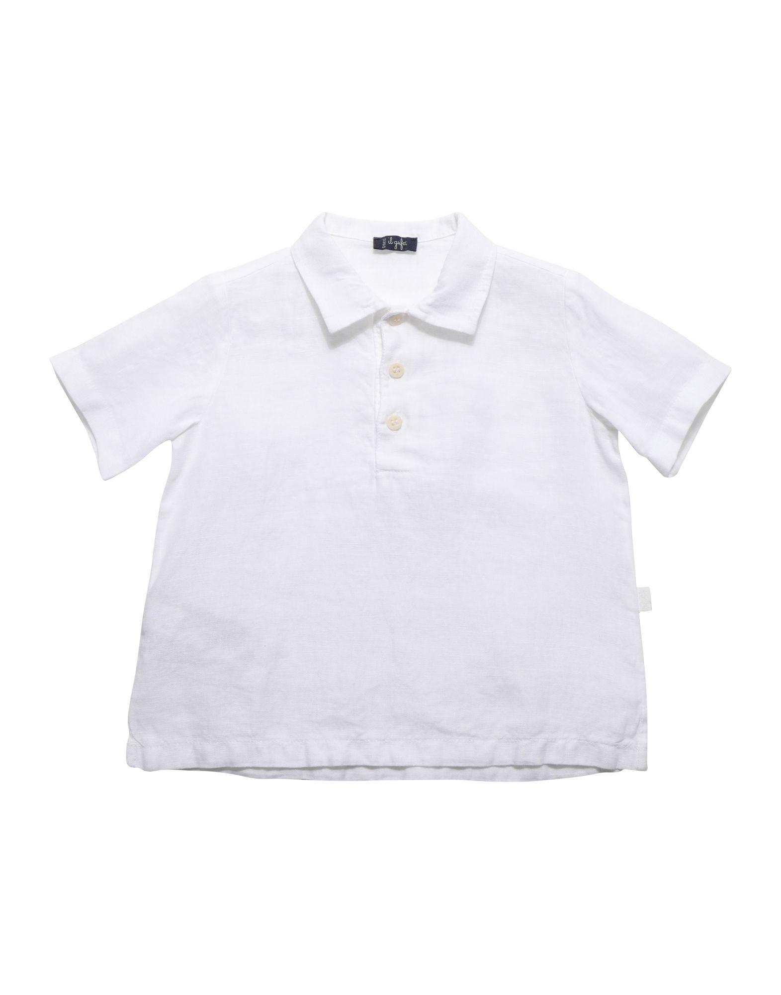 《期間限定 セール開催中》IL GUFO ボーイズ 0-24 ヶ月 シャツ ホワイト 6 麻 100%