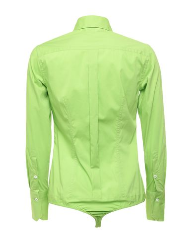 Фото 2 - Pубашка кислотно-зеленого цвета