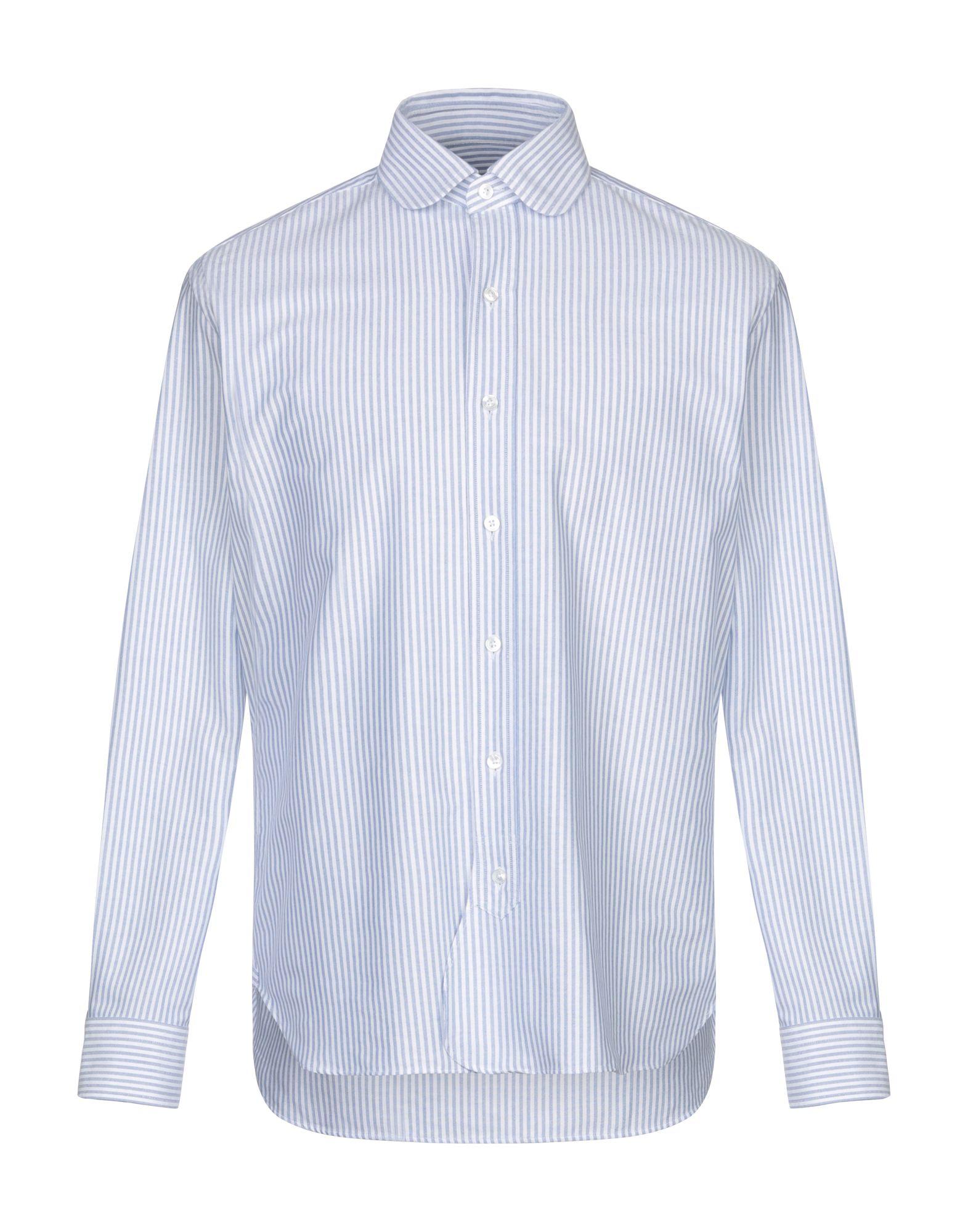 《期間限定セール開催中!》DOPPIAA メンズ シャツ ブルー 40 コットン 100%