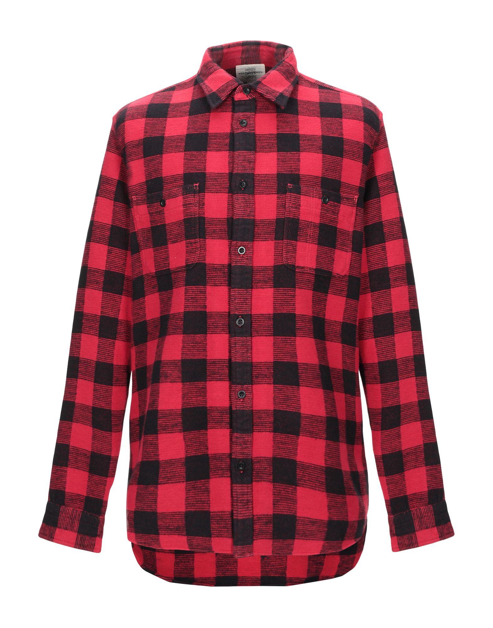 《期間限定セール中》KENT & CURWEN メンズ シャツ レッド S コットン 100%
