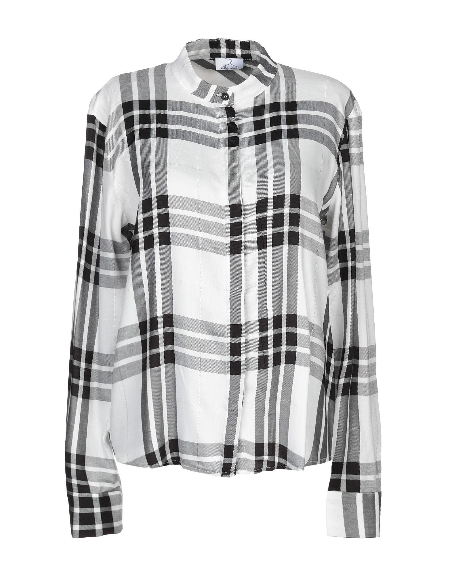 《期間限定セール中》BERNA レディース シャツ ホワイト XS レーヨン 100%