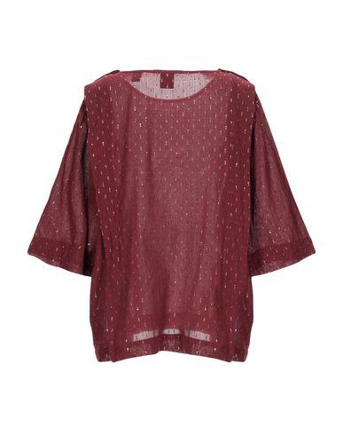 Фото 2 - Женскую блузку  красно-коричневого цвета