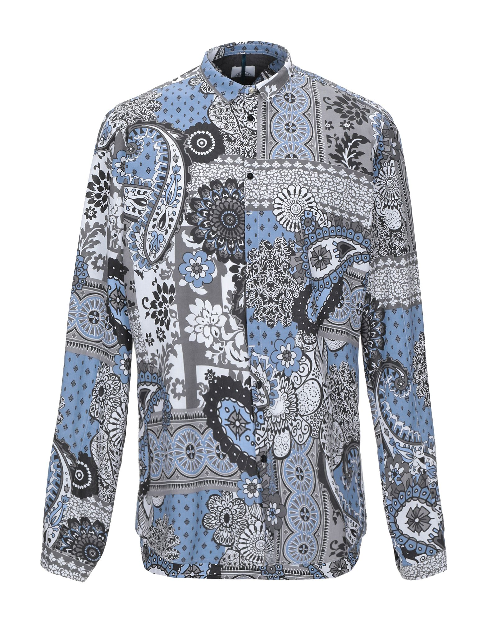 《期間限定セール中》BERNA メンズ シャツ グレー XL コットン 100%