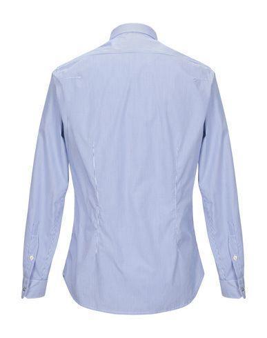 Фото 2 - Pубашка от OFFICINA 36 синего цвета