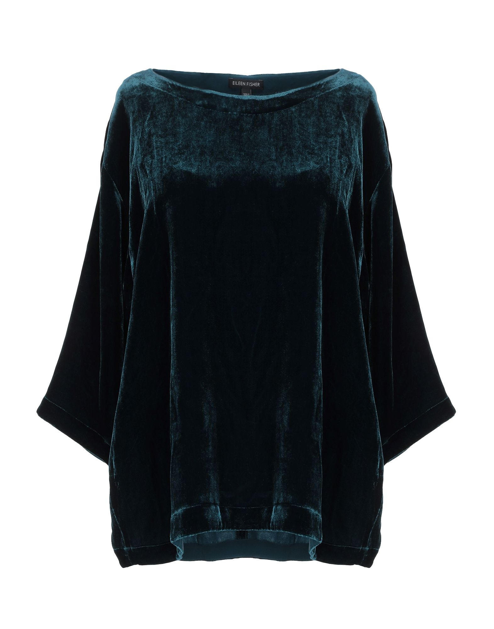 EILEEN FISHER Блузка eileen fisher new black long sleeve drape top msrp $278 00