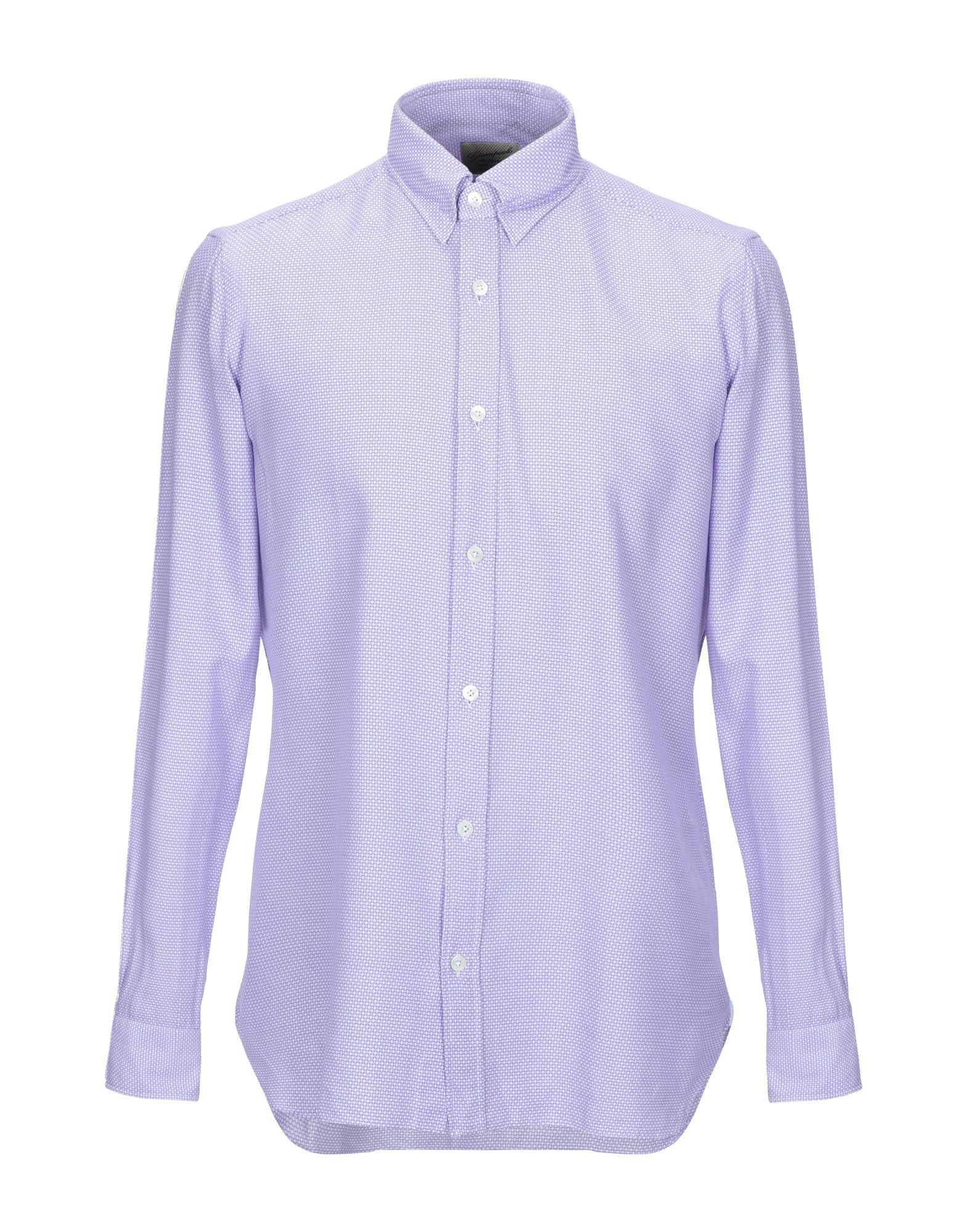 《セール開催中》GIAMPAOLO メンズ シャツ ライラック 39 コットン 100%