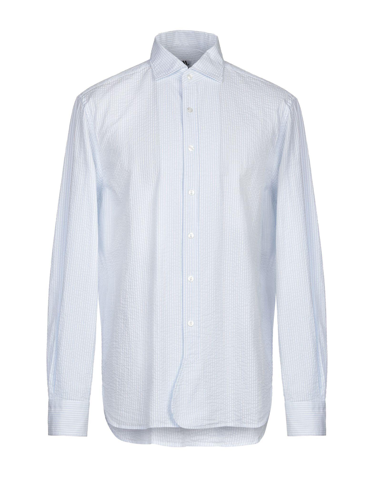 《期間限定セール開催中!》DOPPIAA メンズ シャツ スカイブルー 42 コットン 100%