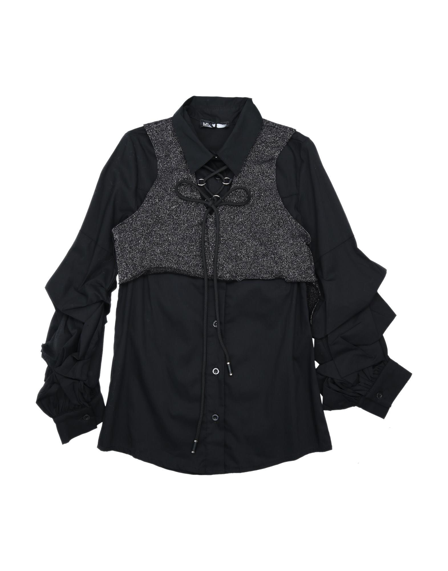 Miss Lulù Kids' Shirts In Black