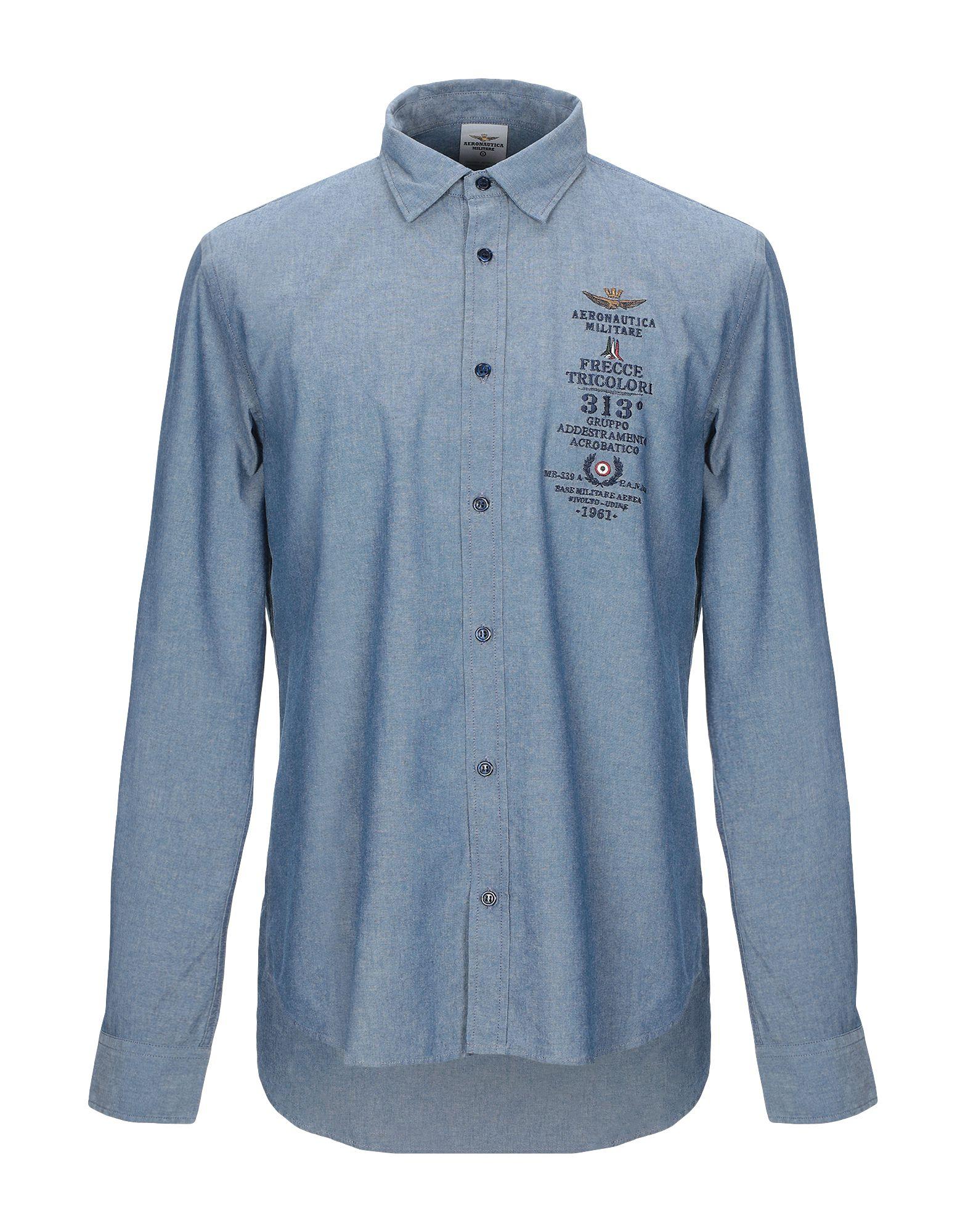 AERONAUTICA MILITARE Джинсовая рубашка