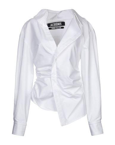 Фото - Женскую блузку JACQUEMUS белого цвета
