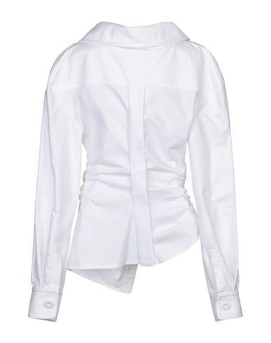 Фото 2 - Женскую блузку JACQUEMUS белого цвета