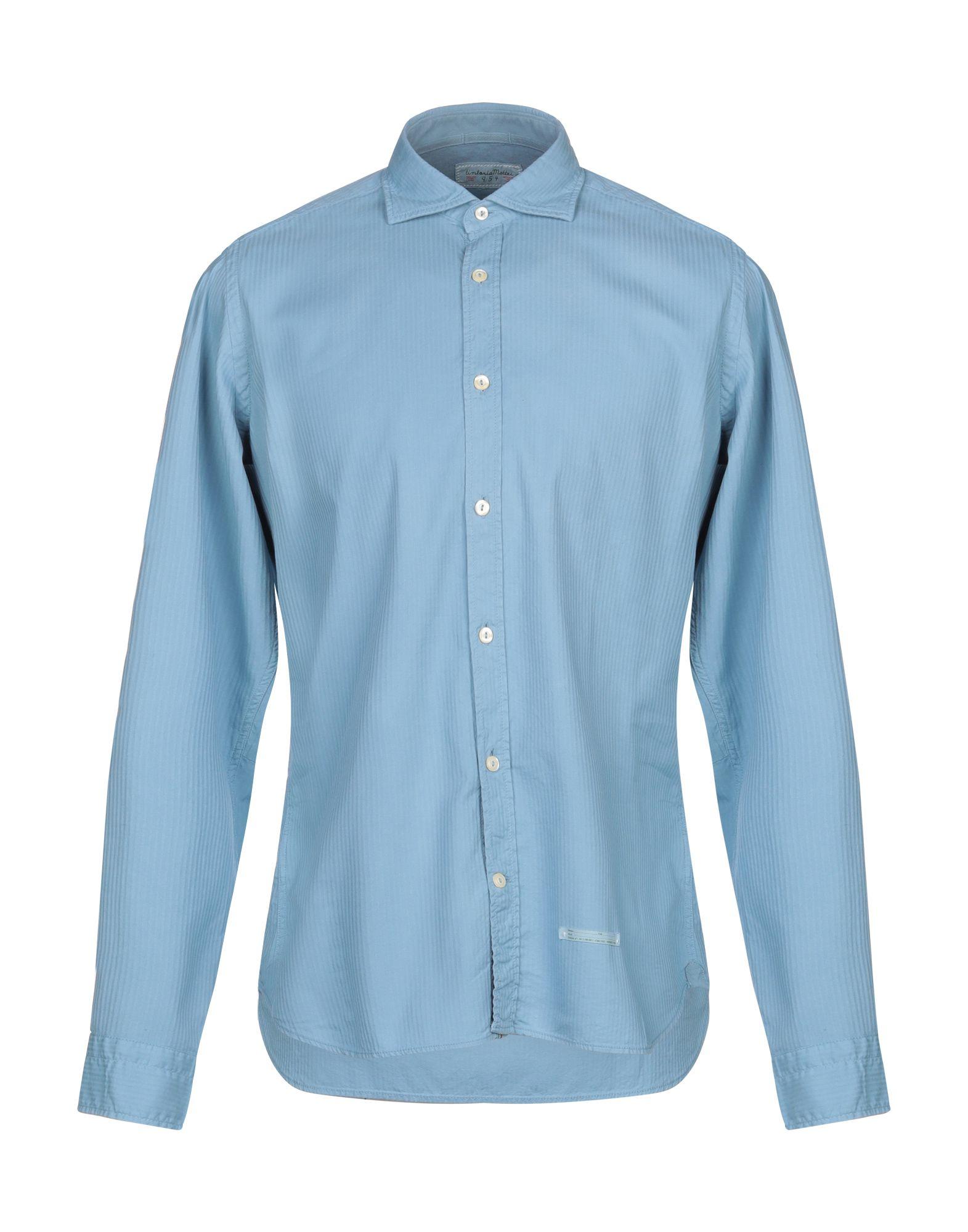 《セール開催中》TINTORIA MATTEI 954 メンズ シャツ アジュールブルー 40 コットン 100%