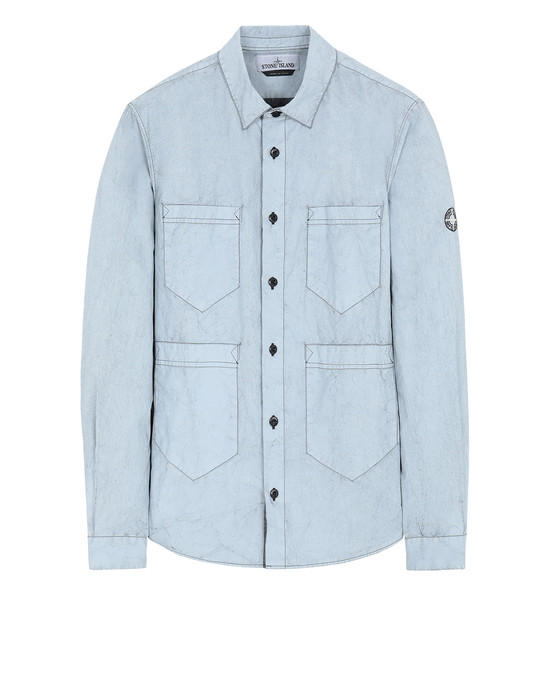 STONE ISLAND Long sleeve shirt 10562 TELA PARACADUTE PLACCATA-TC