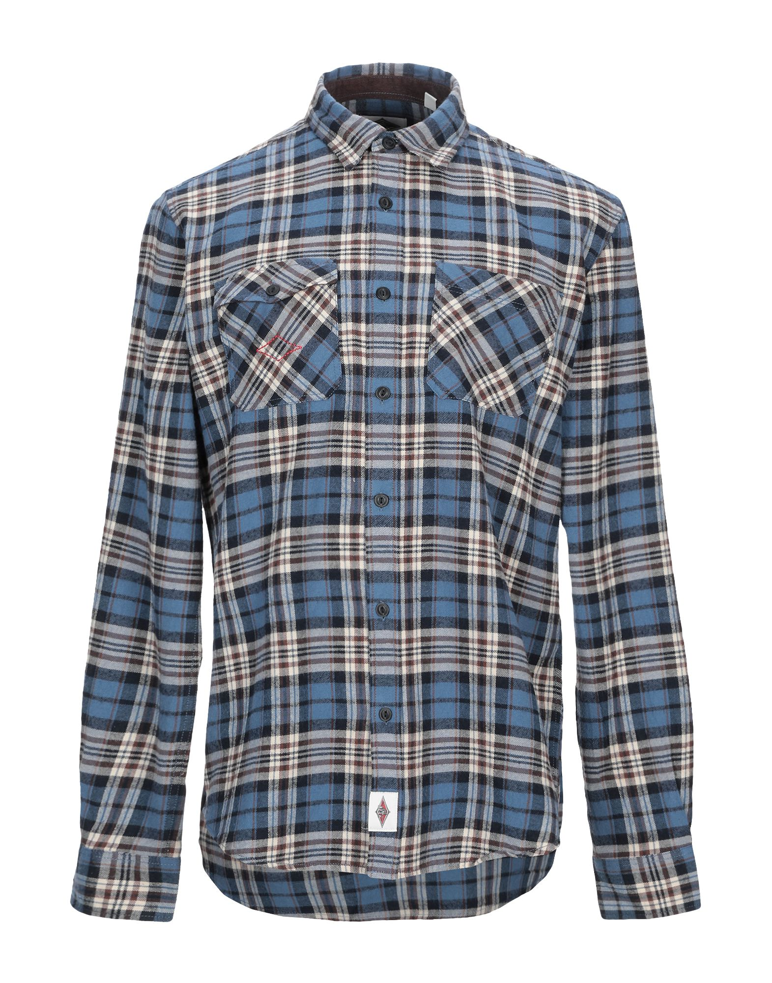 《セール開催中》BEAR メンズ シャツ ブルー L コットン 100%