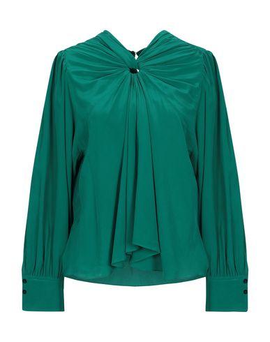 Фото - Женскую блузку  изумрудно-зеленого цвета