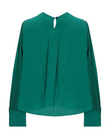 Фото 2 - Женскую блузку  изумрудно-зеленого цвета