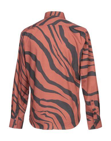 Фото 2 - Pубашка ржаво-коричневого цвета