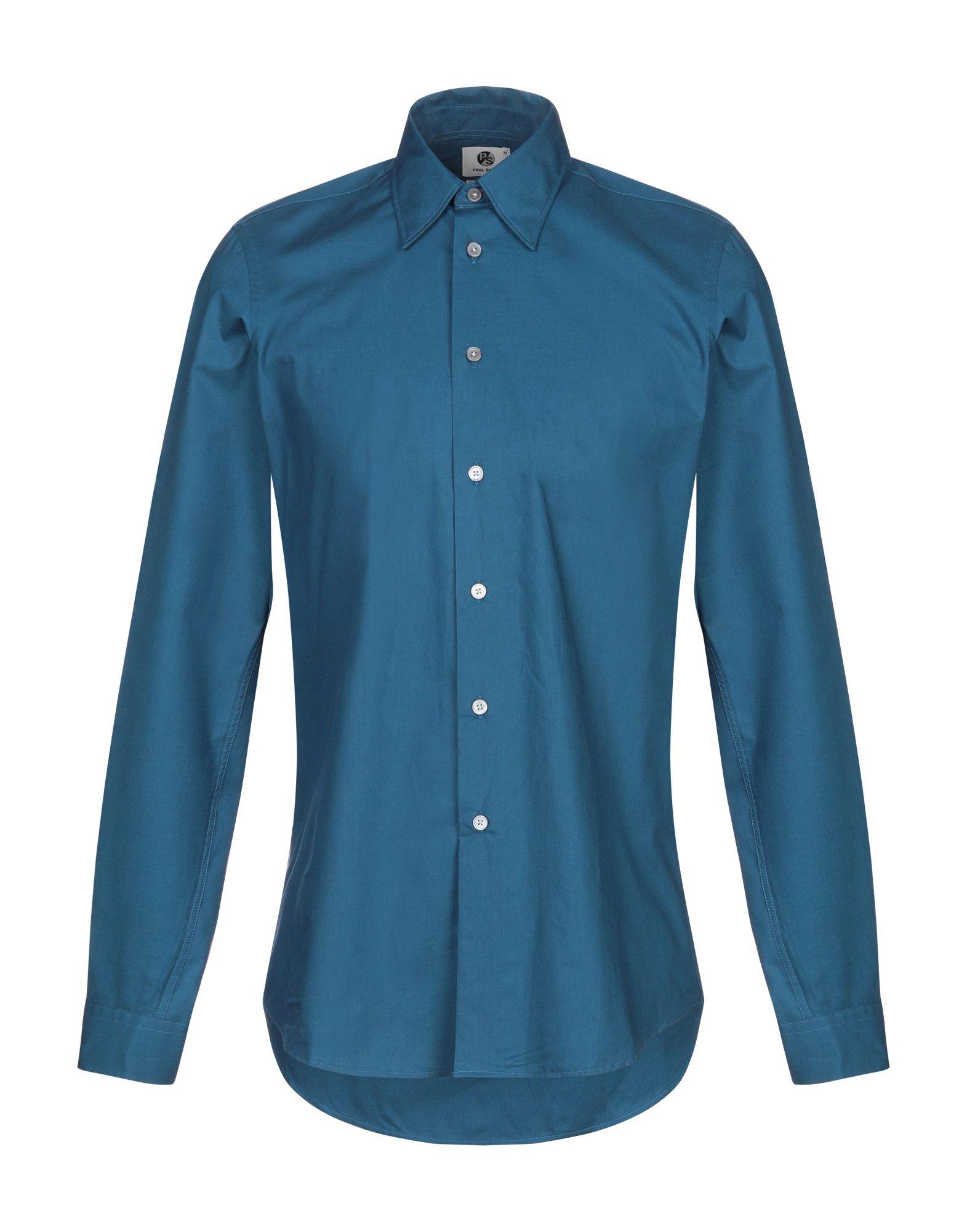 《セール開催中》PS PAUL SMITH メンズ シャツ ブルー L コットン 100%