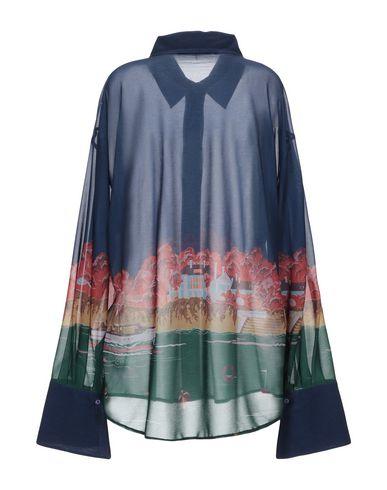 Фото 2 - Pубашка от MARCO DE VINCENZO темно-синего цвета