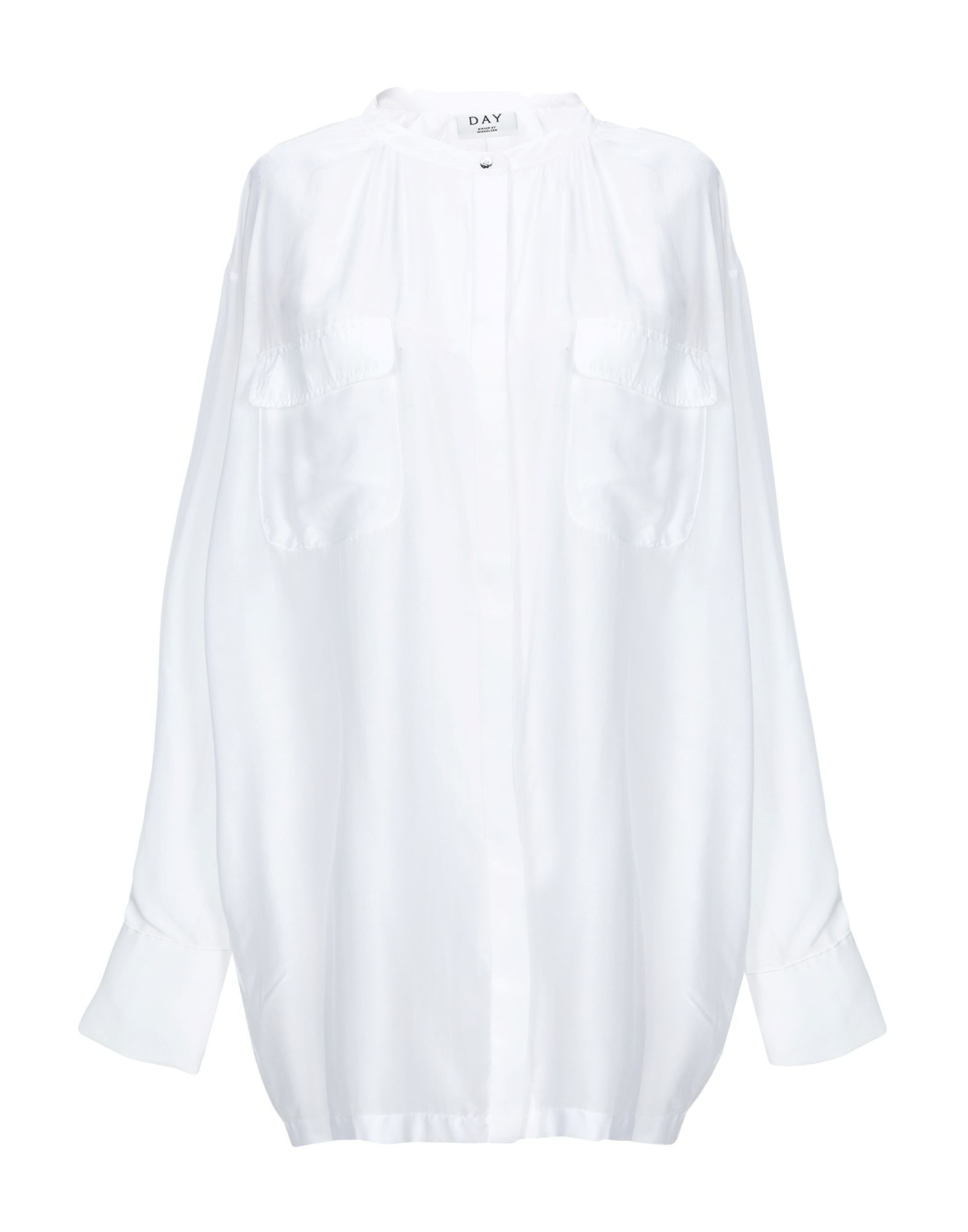 《期間限定セール中》DAY BIRGER ET MIKKELSEN レディース シャツ ホワイト 38 指定外繊維(テンセル)? 73% / シルク 27%