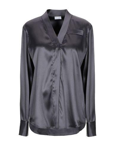 Фото - Женскую блузку  цвет стальной серый