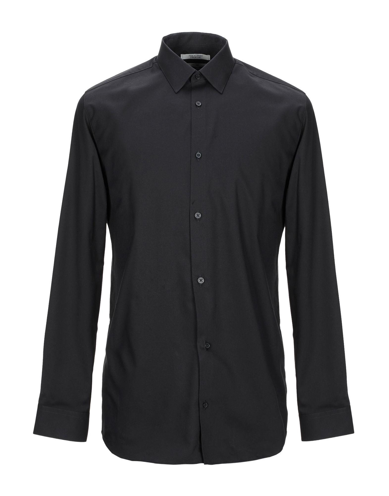 《期間限定セール開催中!》JACK & JONES PREMIUM メンズ シャツ ブラック L コットン 100%
