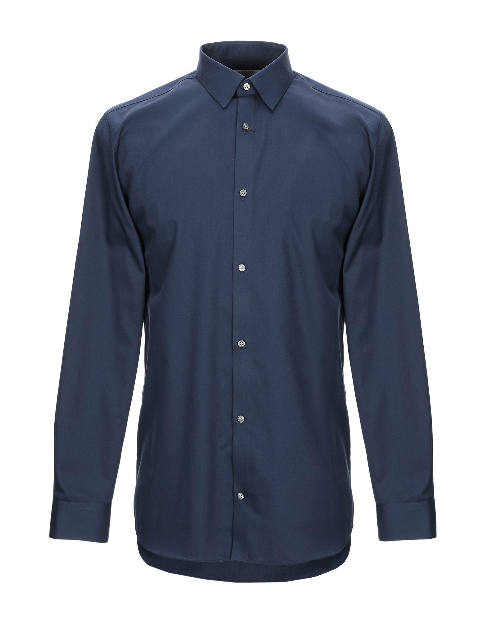 《期間限定セール開催中!》JACK & JONES PREMIUM メンズ シャツ ダークブルー XL コットン 100%