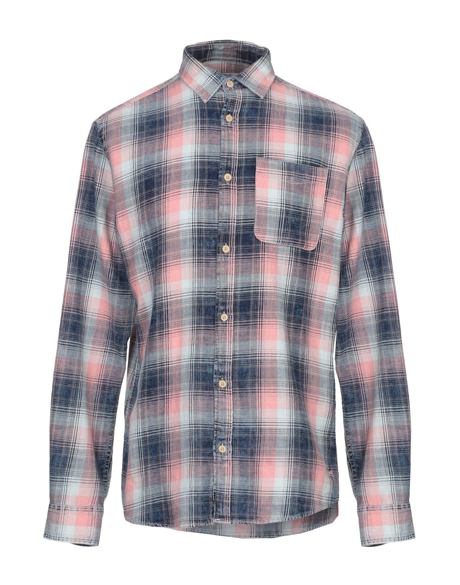 《期間限定セール開催中!》JACK & JONES ORIGINALS メンズ シャツ ピンク S コットン 100%