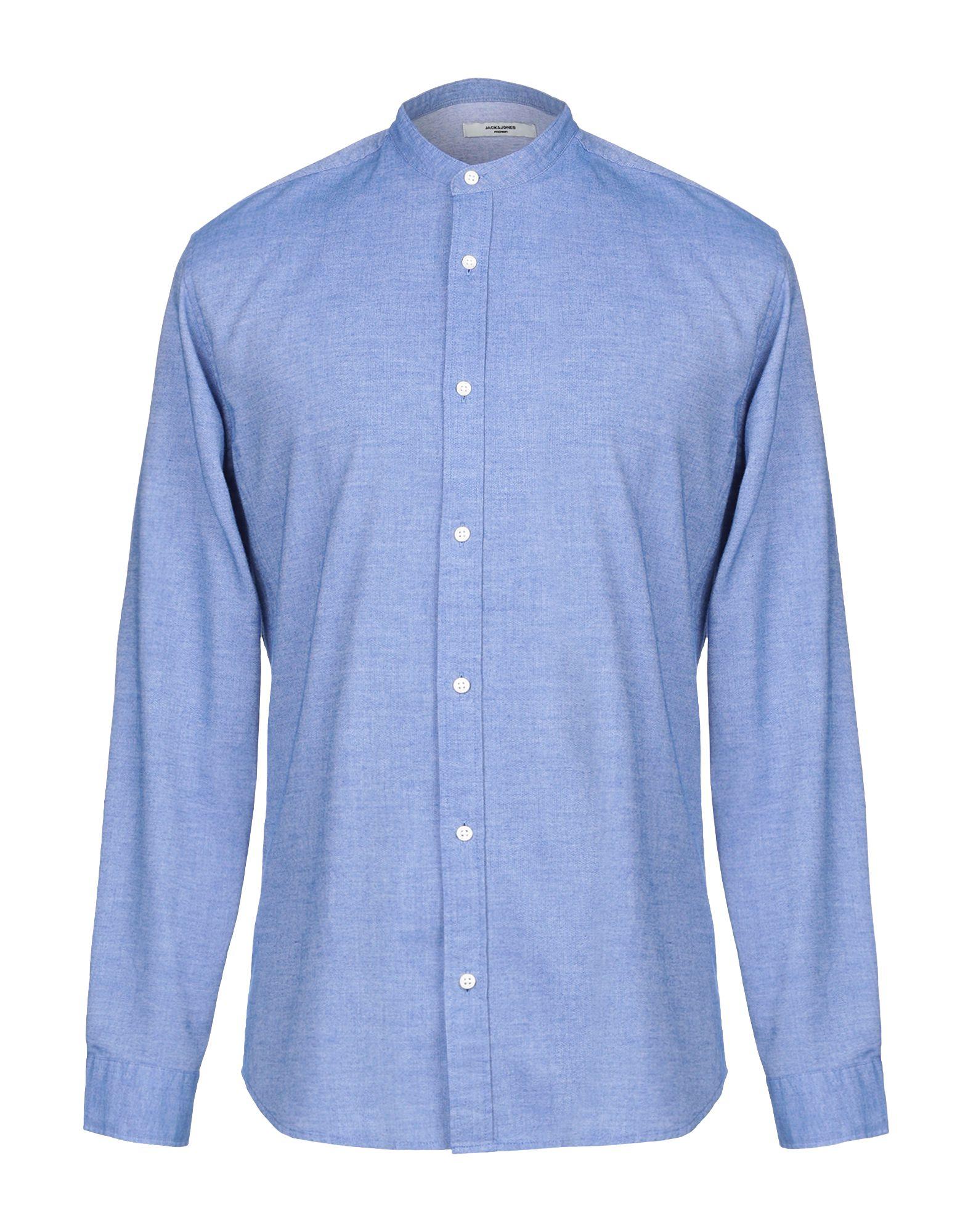 《送料無料》JACK & JONES PREMIUM メンズ シャツ アジュールブルー S コットン 100%