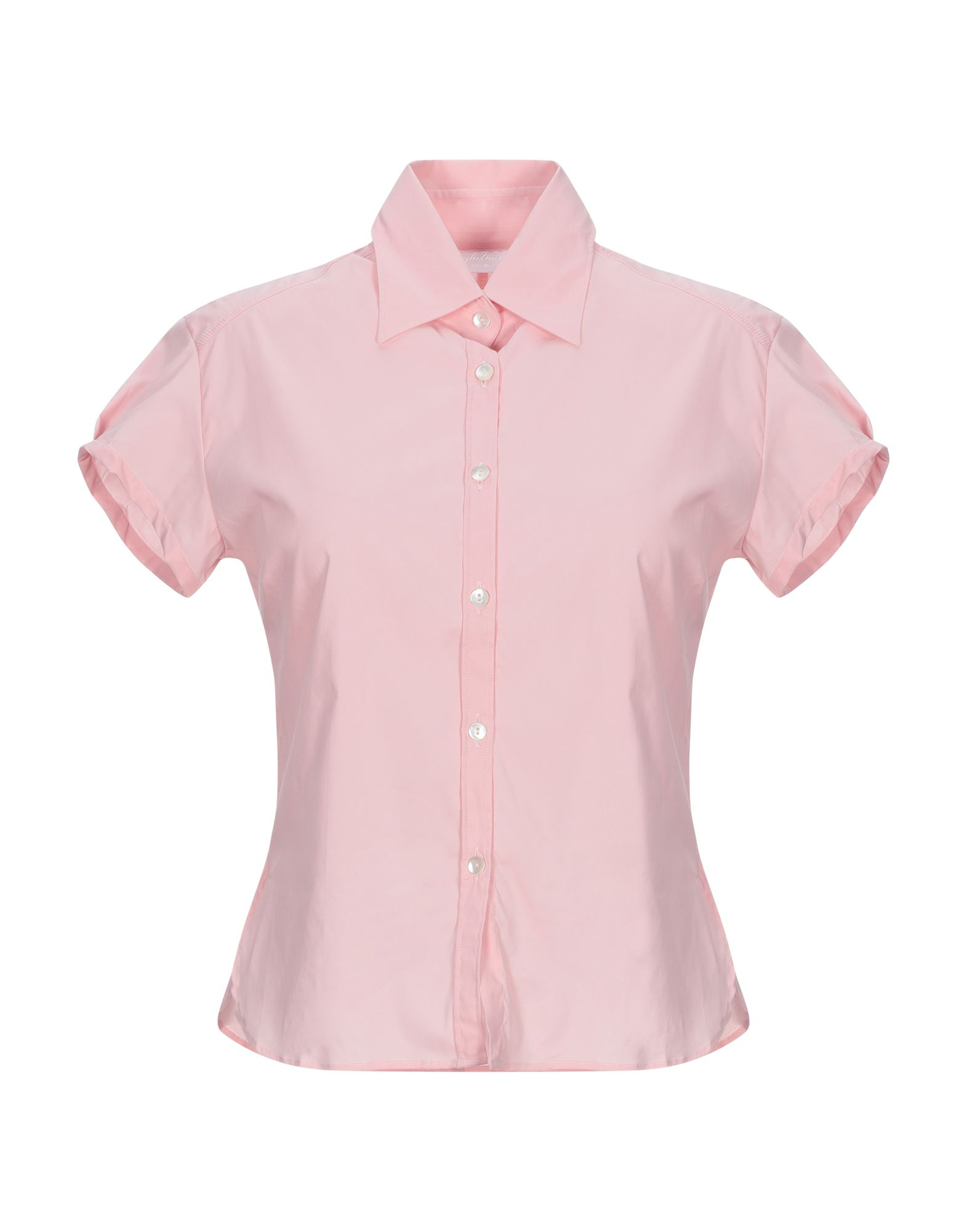 《セール開催中》GUGLIELMINOTTI レディース シャツ ピンク 40 コットン 68% / ナイロン 28% / ポリウレタン 4%