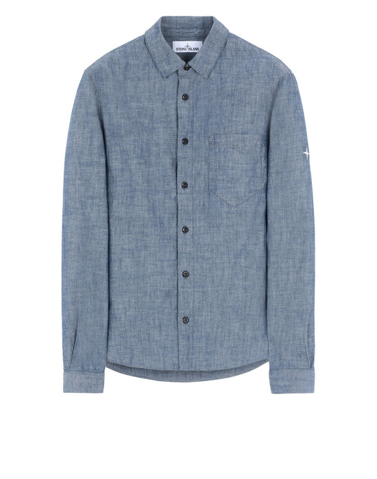 STONE ISLAND 12507 Long sleeve shirt Man Blue