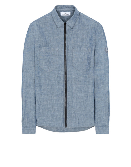 STONE ISLAND 12407 Long sleeve shirt Man Blue