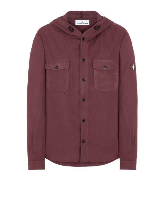 STONE ISLAND 10203 Long sleeve shirt Man Dark Burgundy