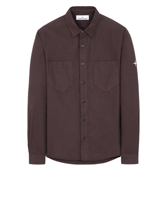 STONE ISLAND 11206 Long sleeve shirt Man Dark Brown