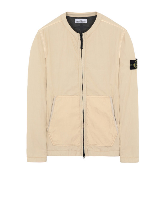 STONE ISLAND 10804 OVER SHIRT Man Ecru