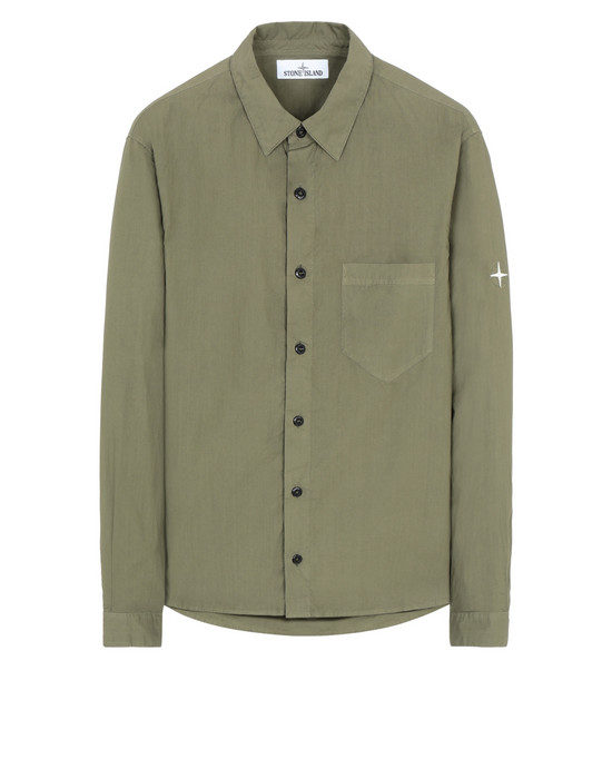 STONE ISLAND 12501 Long sleeve shirt Man Olive Green