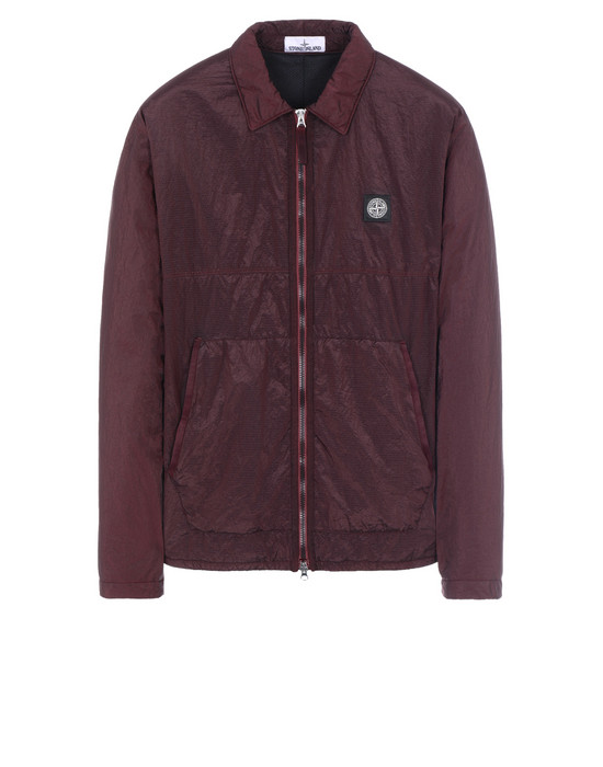 STONE ISLAND 11036 NYLON METAL RIPSTOP + RETE ISOLANTE-TC OVER SHIRT Man Dark Burgundy
