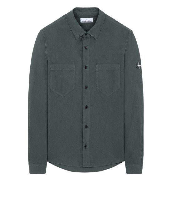 STONE ISLAND 11203 Long sleeve shirt Man Dark Teal Green