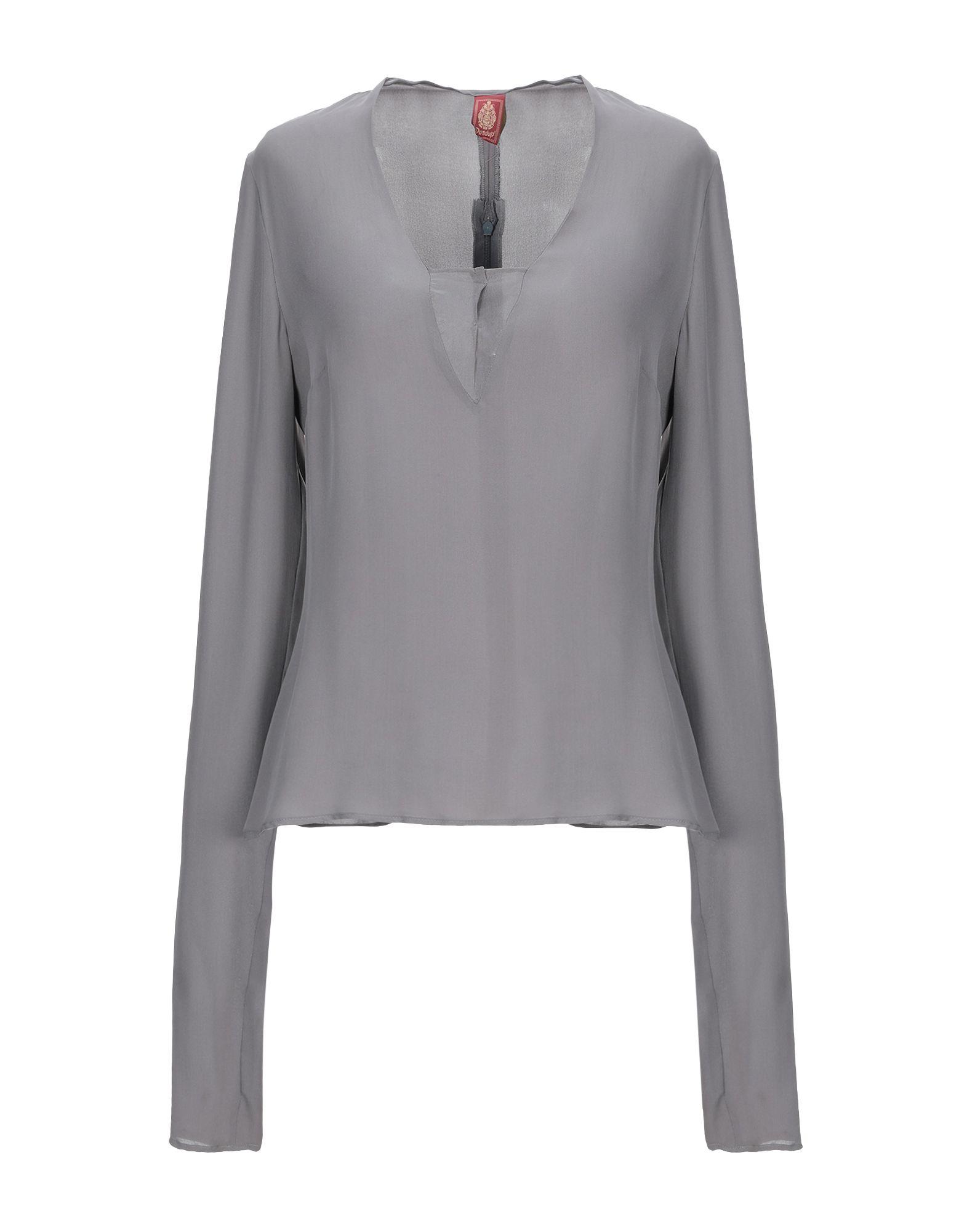 DONDUP Блузка пуловер кашемировый v образный вырез логотип freeman сзади