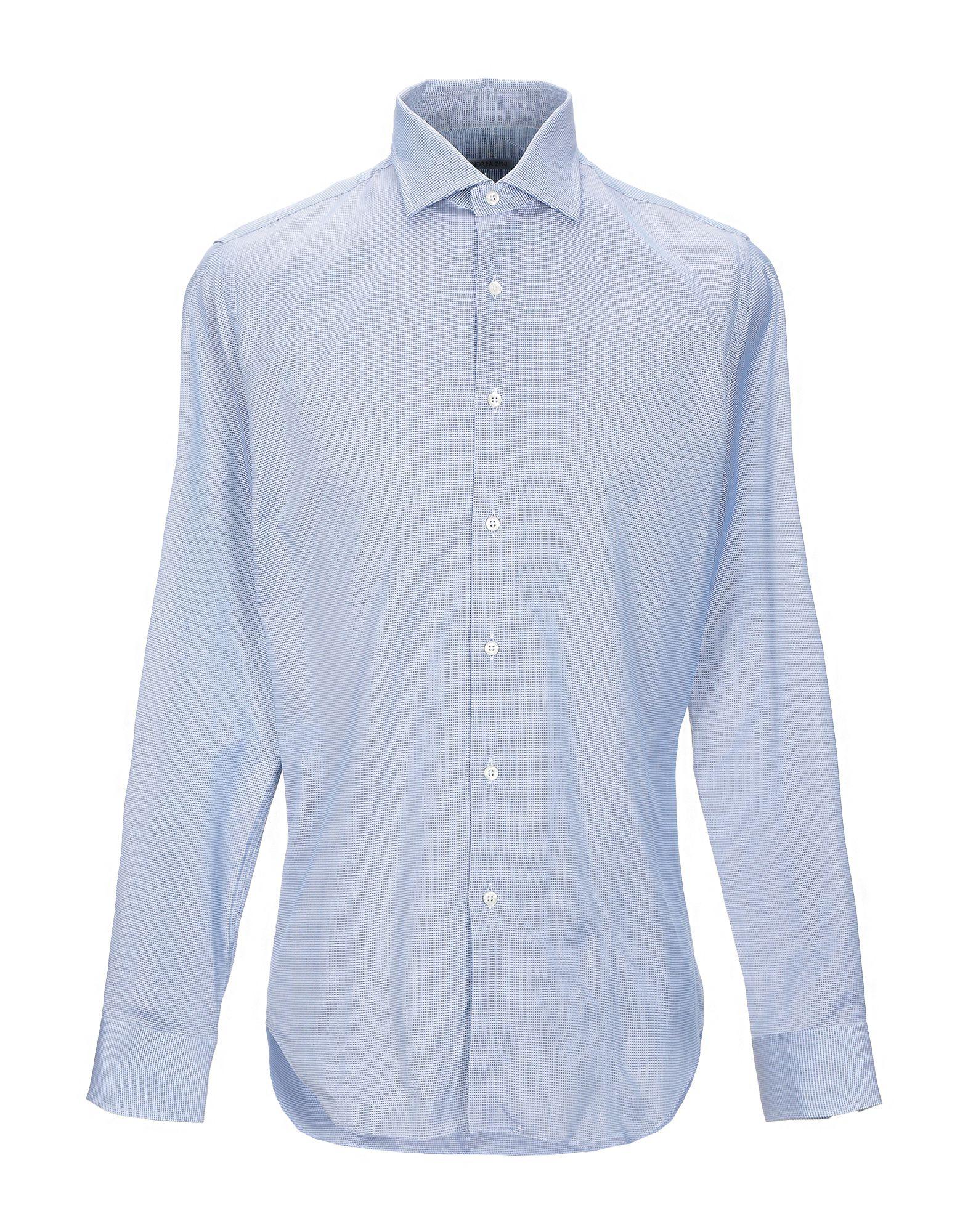 《セール開催中》ANDREA ZENI メンズ シャツ ブルー 39 コットン 100%