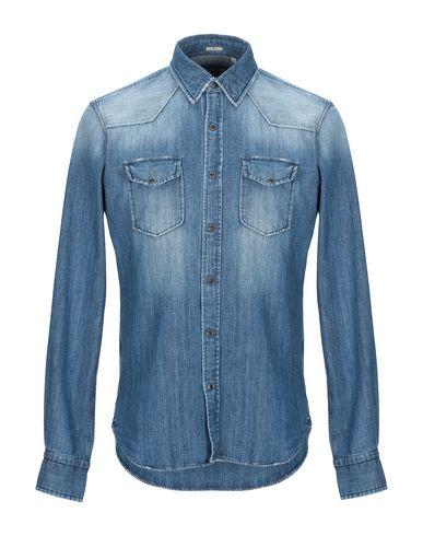 Фото - Джинсовая рубашка от OGNUNOLASUA by CAMICETTASNOB синего цвета