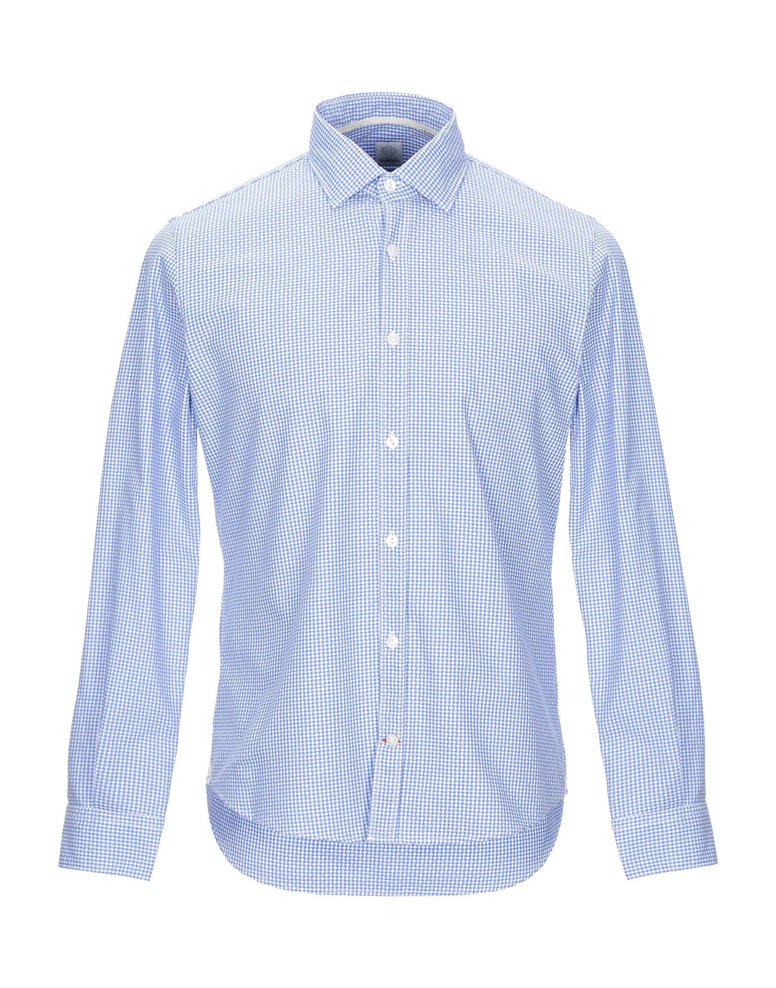 《期間限定セール開催中!》DOUBLE EIGHT メンズ シャツ ブルー S コットン 100%