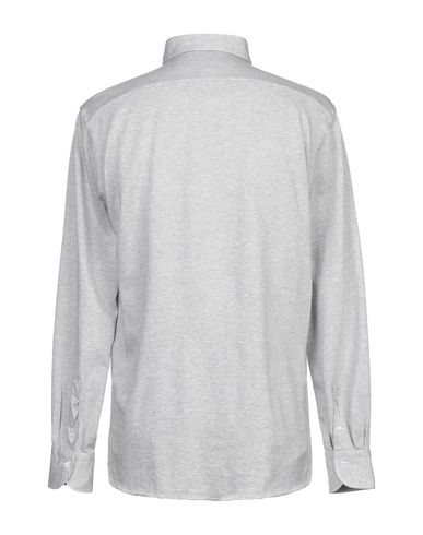 Фото 2 - Pубашка от ALESSANDRO GHERARDI светло-серого цвета