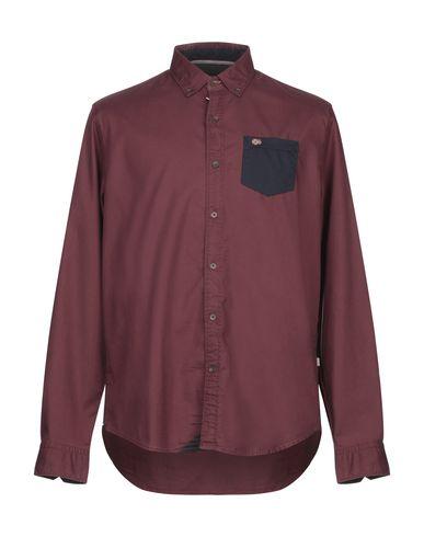 Фото - Pубашка красно-коричневого цвета