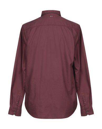 Фото 2 - Pубашка красно-коричневого цвета